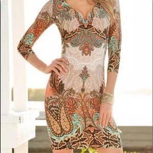 Boston Proper Boho Paisley Dress